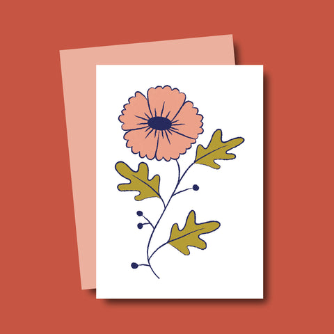 Flora Mini Card - Beetle Ink Co.