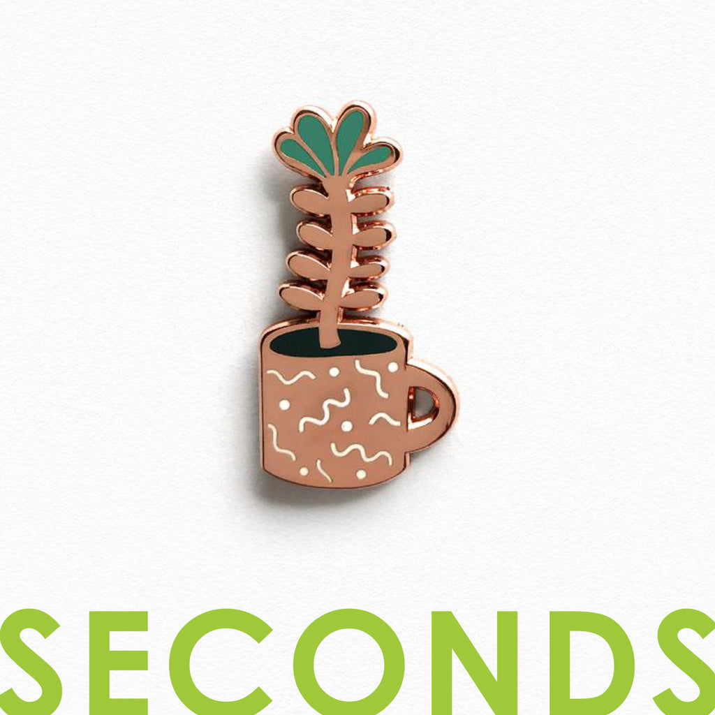 Flower Sprout Enamel Pin - SECONDS