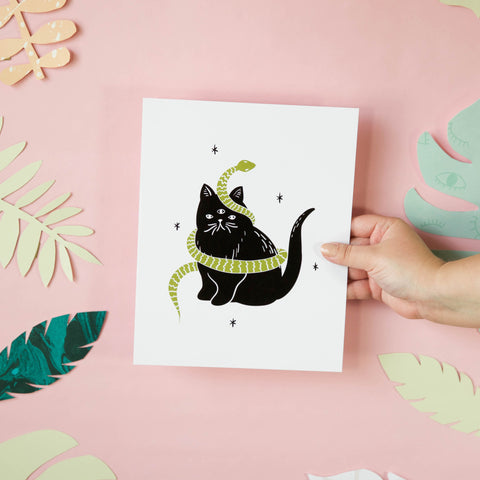 Catsss Art Print - Beetle Ink Co.