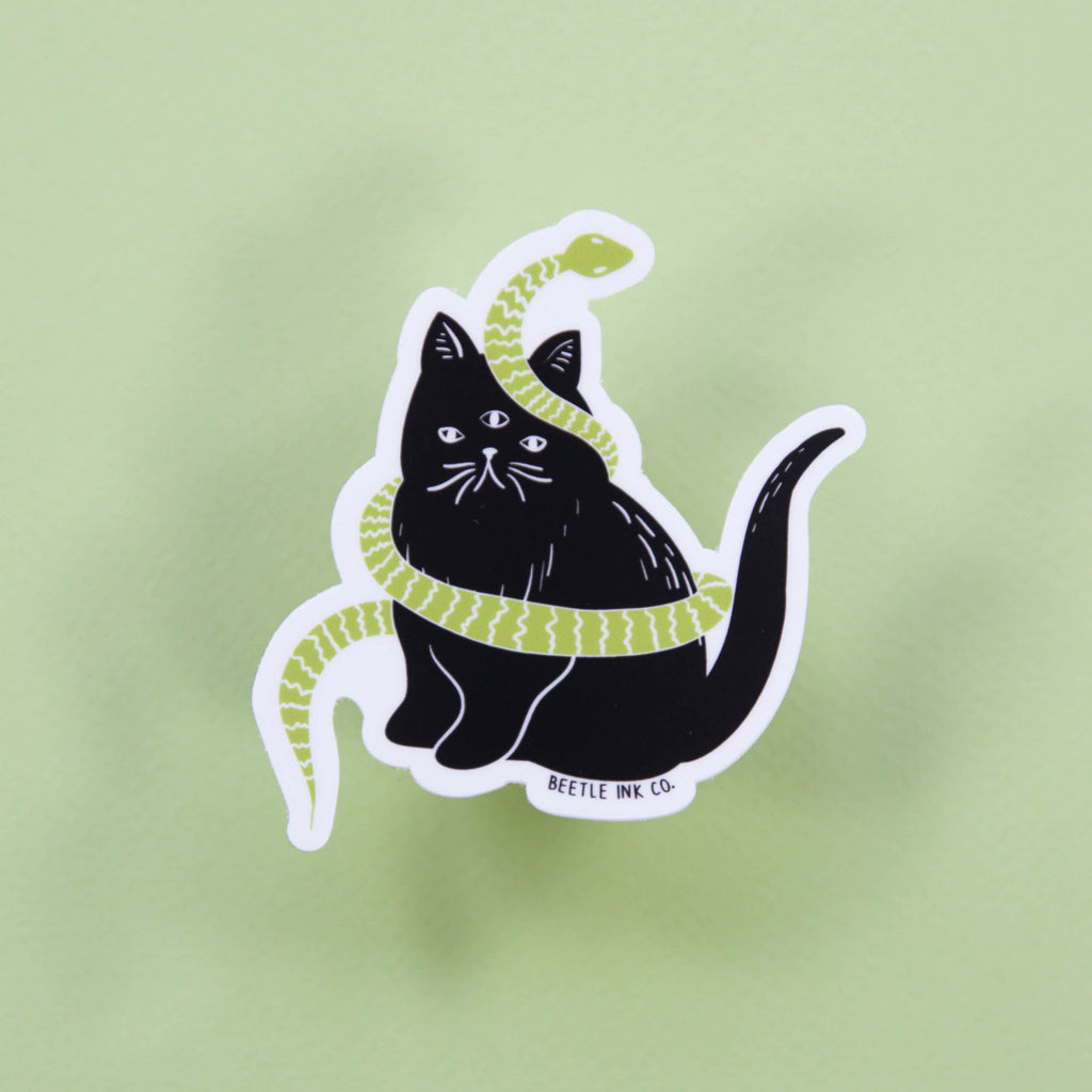 Catsss Vinyl Sticker - Beetle Ink Co.