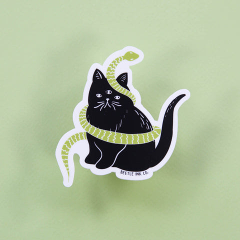 Killer Cat Vinyl Sticker - Beetle Ink Co.