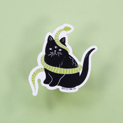 Killer Cat Vinyl Sticker