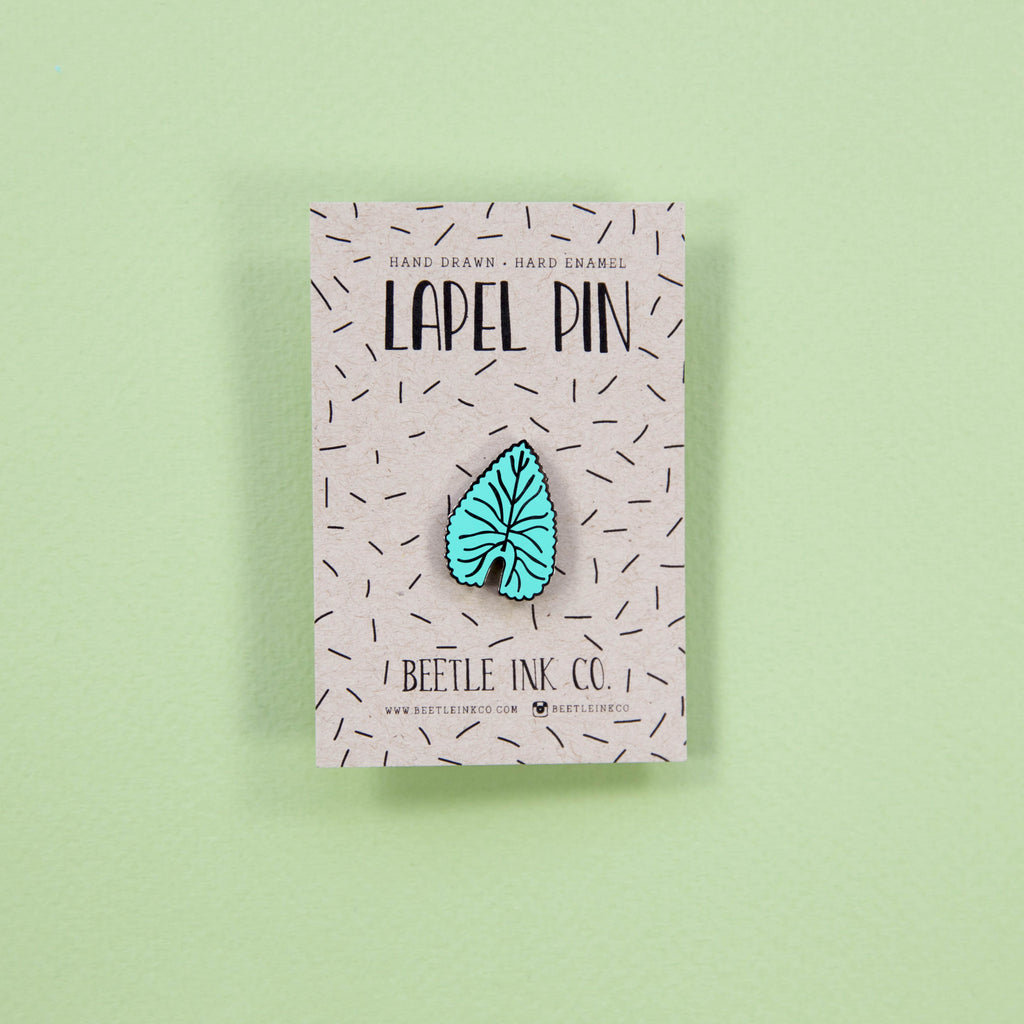 Leaf Enamel Pin - Beetle Ink Co.