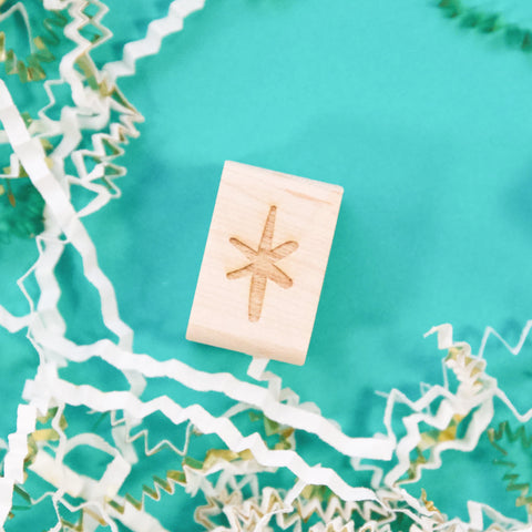 Mini Star Rubber Stamp