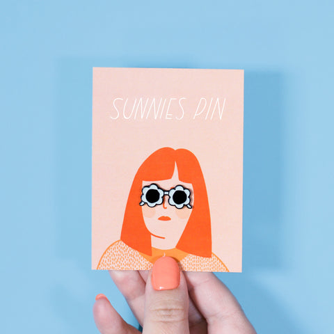 Blue Sunnies Enamel Pin - Beetle Ink Co.