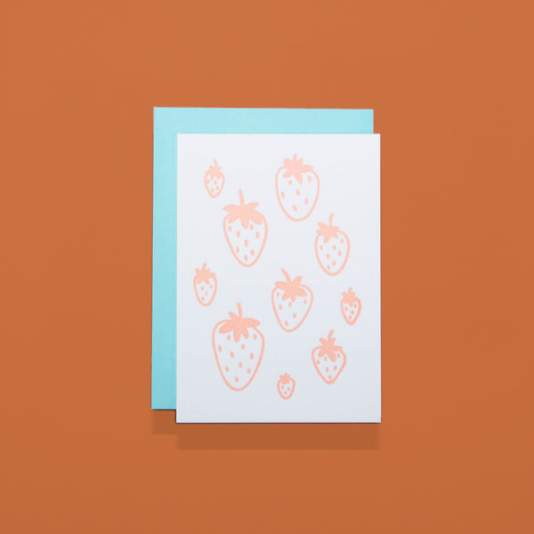 Strawberry Mini Card Set - Beetle Ink Co.