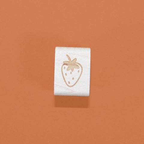 Mini Strawberry Rubber Stamp - Beetle Ink Co.