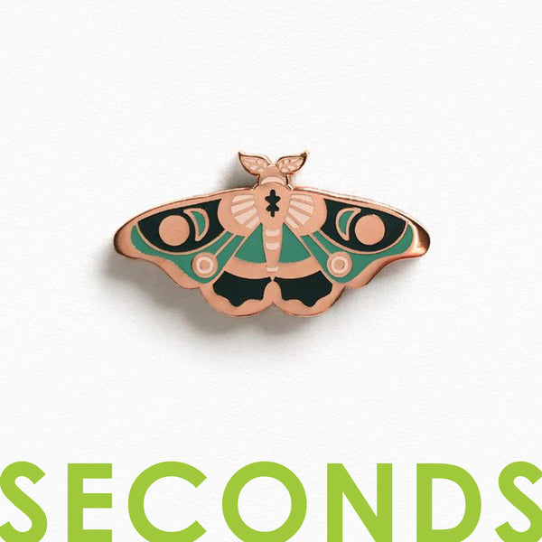 Moth Enamel Pin - SECONDS