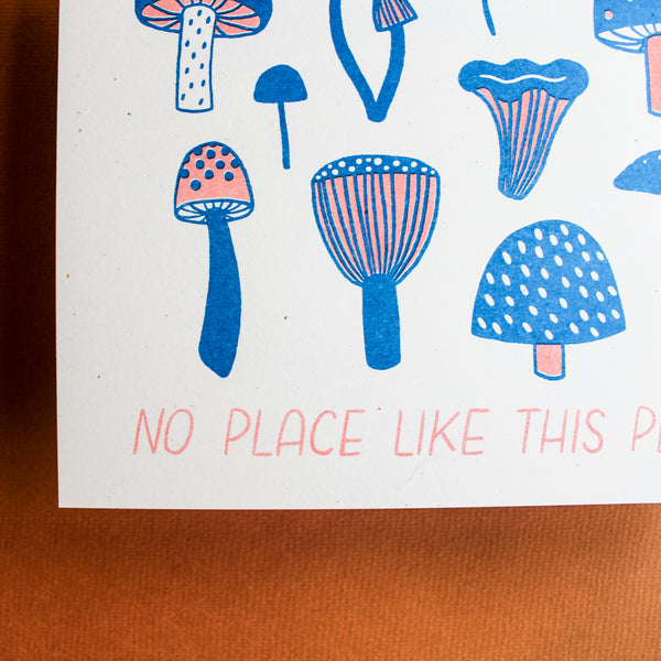 No Place Like This Place Art Print - Risograph - Beetle Ink Co.