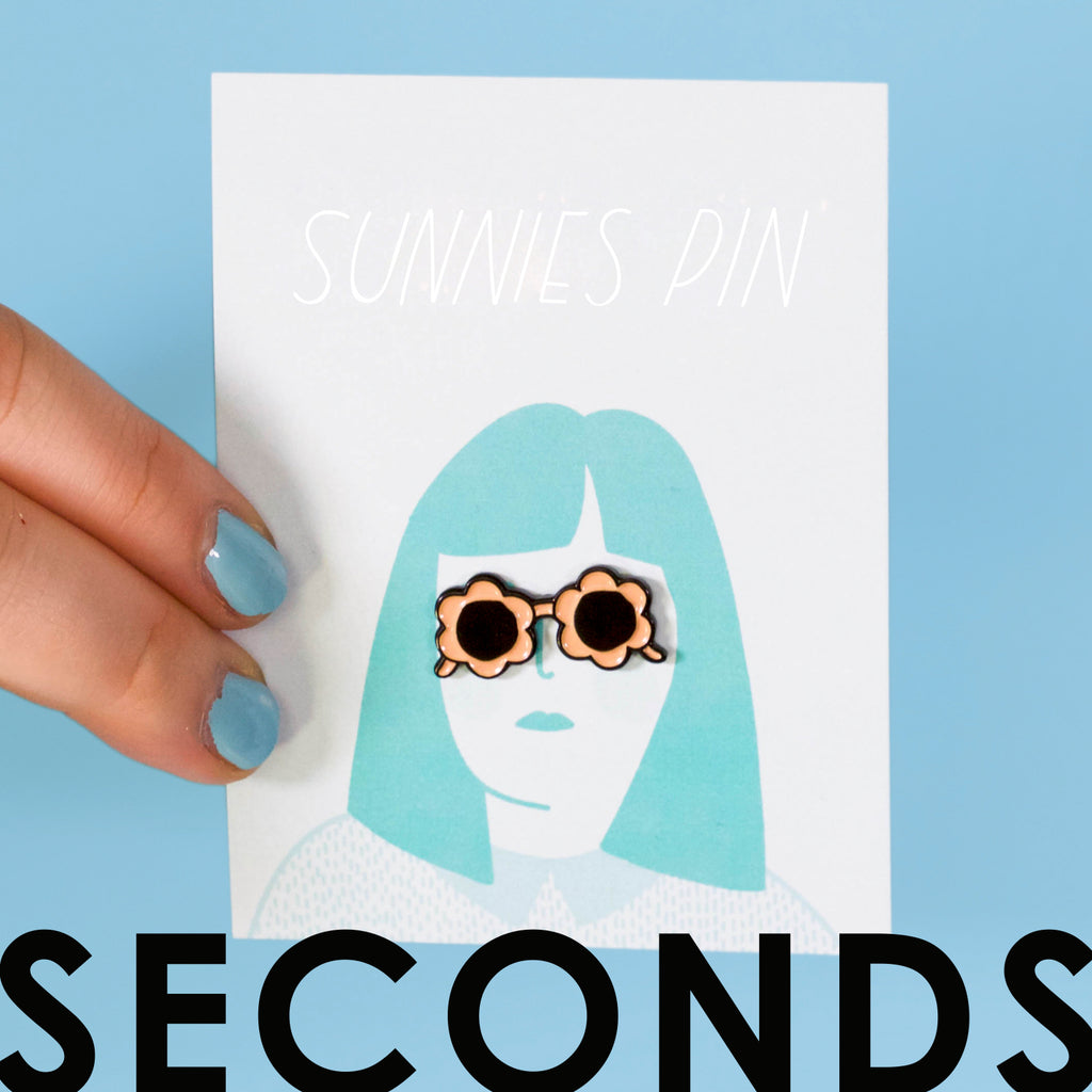 Peach Sunnies Enamel Pin SECONDS SALE