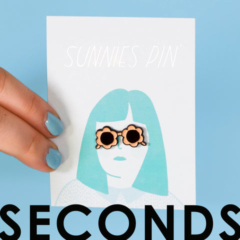 Peach Sunnies Enamel Pin - SECONDS