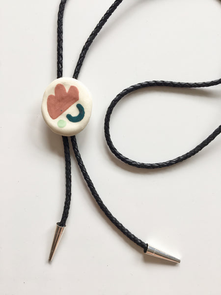 Ceramic Bolo Tie - Shapes 2 - Beetle Ink Co.