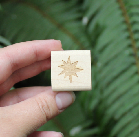 Mini Starburst Rubber Stamp