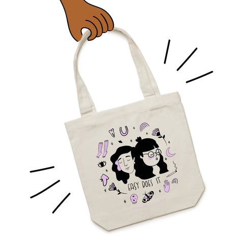 Tote Bag - Easy Does It - SALE! - Beetle Ink Co.