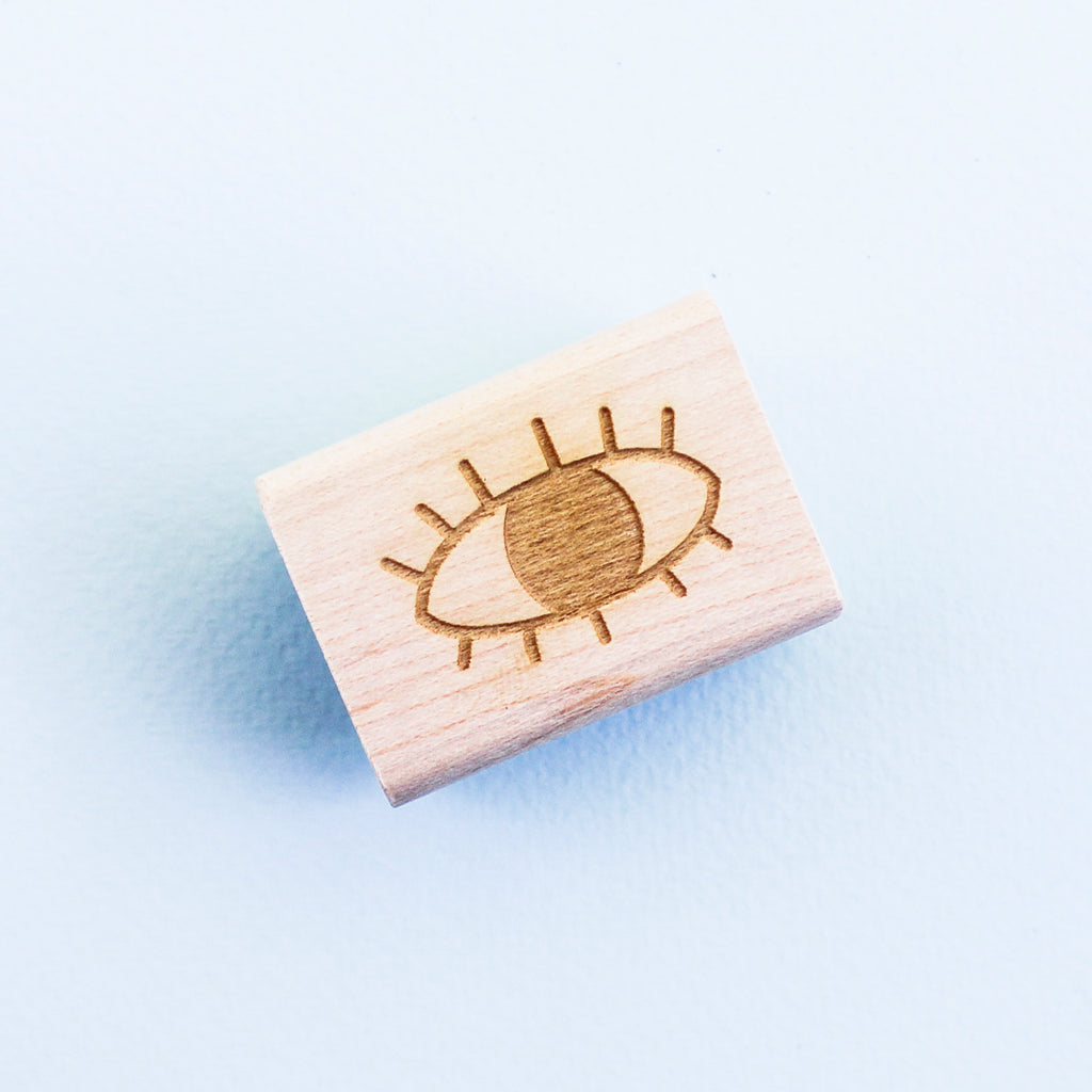 Eye Rubber Stamp - Beetle Ink Co.
