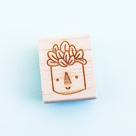Happy Plant Rubber Stamp - Beetle Ink Co.