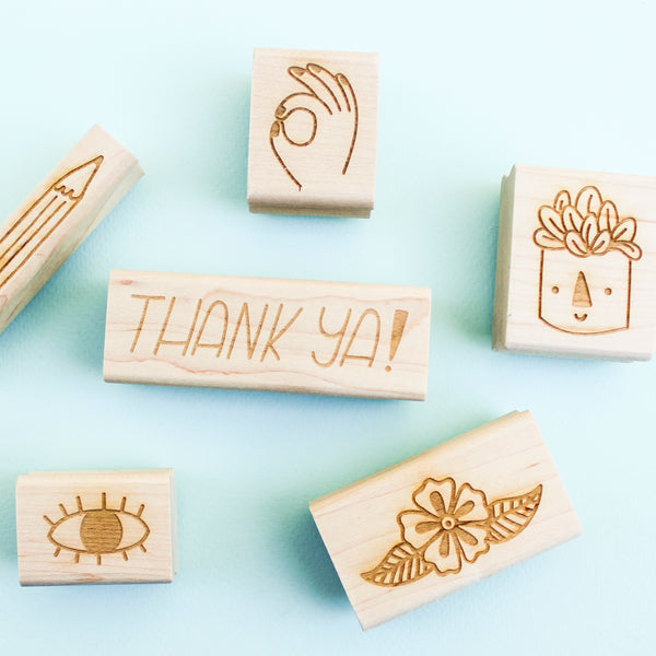 OK Hand Rubber Stamp - Beetle Ink Co.