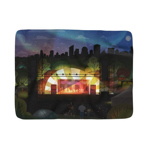 *pre order* Edmonton FolkFest -  Fleece Blanket - Home Decor - Snow Alligator by Jason Blower