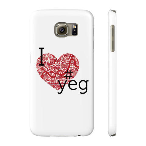 I Heart YEG - Slim Samsung Galaxy S6 - Phone Case - Snow Alligator by Jason Blower