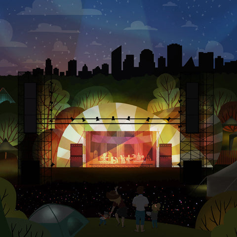 Edmonton Folk Music Festival - Mainstage - Art Print - Snow Alligator by Jason Blower