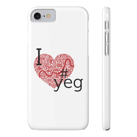 I heart YEG - Slim iPhone 7 - Phone Case - Snow Alligator by Jason Blower