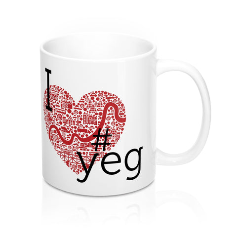 I heart #YEG Mug - Mug - Snow Alligator by Jason Blower