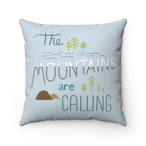 The Mountains are Calling - Pillow - Home Decor - Snow Alligator by Jason Blower