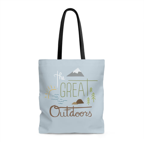 The Great Outdoors Tote bag - Bags - Snow Alligator by Jason Blower