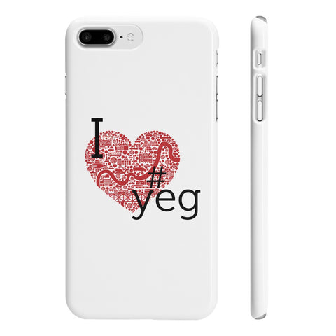 I Heart YEG - Slim Iphone 7 Plus - Phone Case - Snow Alligator by Jason Blower