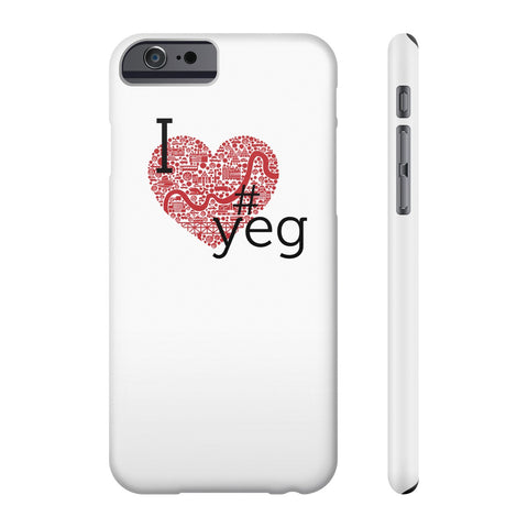I heart YEG - Slim Iphone 6/6s - Phone Case - Snow Alligator by Jason Blower
