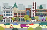 Edmonton - Whyte Ave - Art Print - Snow Alligator by Jason Blower