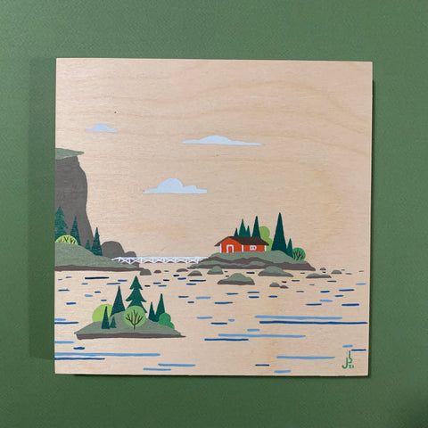 Mini Painting : Cabin Island