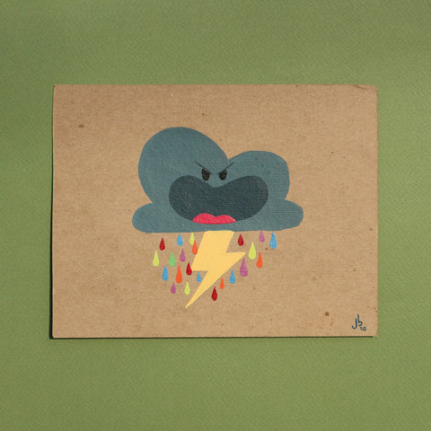 Mini Painting : Angry Thunder Cloud