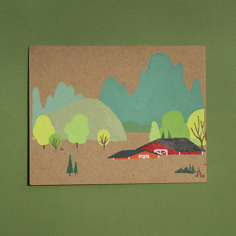 Mini Painting : Barn Valley