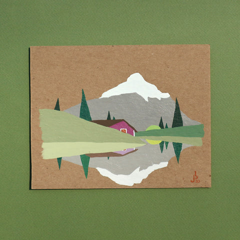 Mini Painting : Purple Cabin