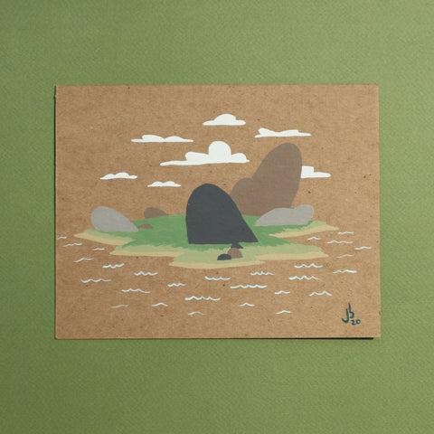 Mini Painting : Tropical Island