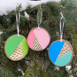 Modern Christmas Ornaments - Mix set of 3