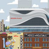 Edmonton - Rogers Place - Art Print - Snow Alligator by Jason Blower