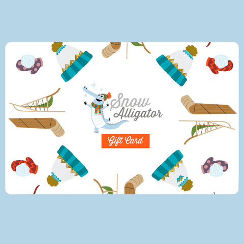Snow Alligator Gift Card