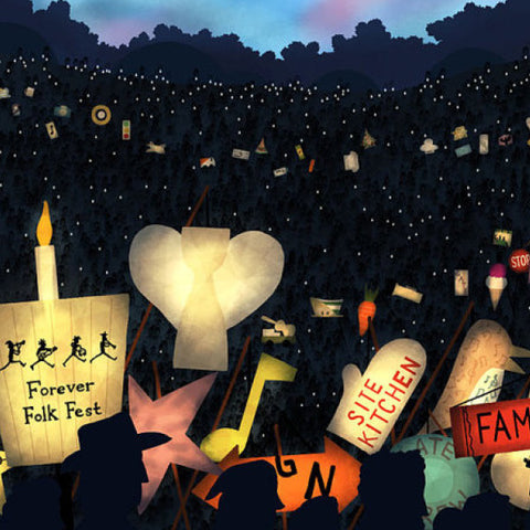 Edmonton Folk Music Festival - Parade of Lanterns - Art Print - Snow Alligator by Jason Blower