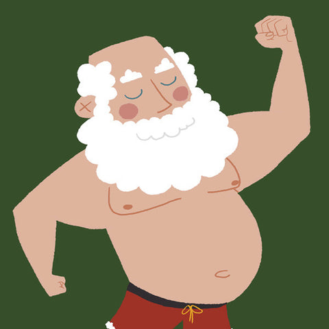 Mr. Claus Tatoo Greeting Card