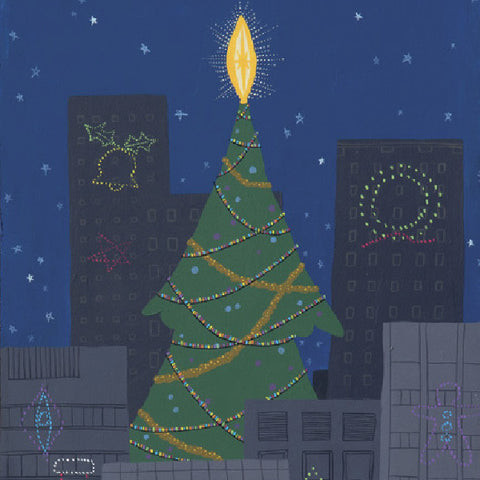 Christmas City - Tree - Paintings - Snow Alligator by Jason Blower