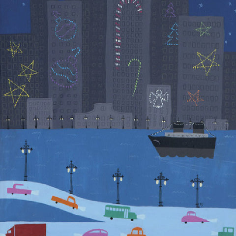 Christmas City - Road - Paintings - Snow Alligator by Jason Blower