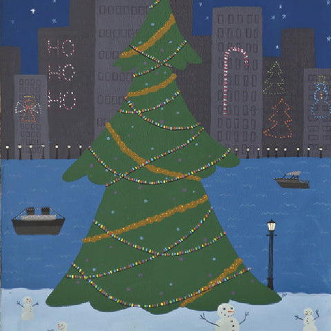 Christmas City - Snowmen - Paintings - Snow Alligator by Jason Blower