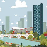 Calgary Skyline paper print - Art Print - Snow Alligator by Jason Blower