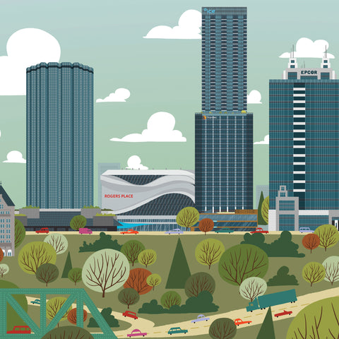 2017 Edmonton Skyline Canvas 2nd Edition