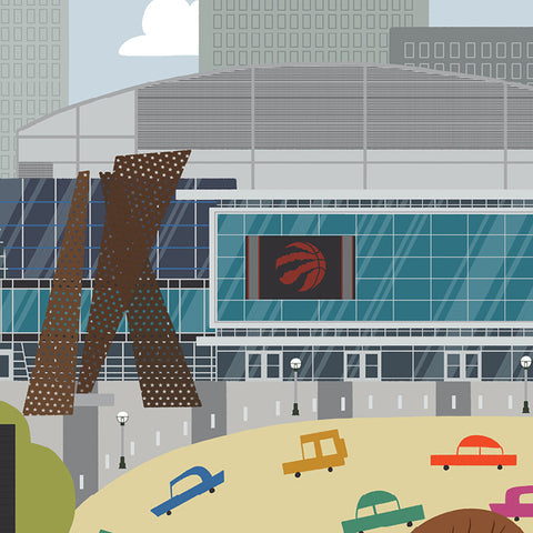 Toronto - Air Canada Centre - Raptors - Art Print - Snow Alligator by Jason Blower