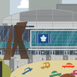Toronto - Air Canada Centre - Leafs - Art Print - Snow Alligator by Jason Blower