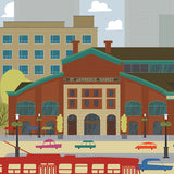 Toronto - St. Lawrence Market - Art Print - Snow Alligator by Jason Blower