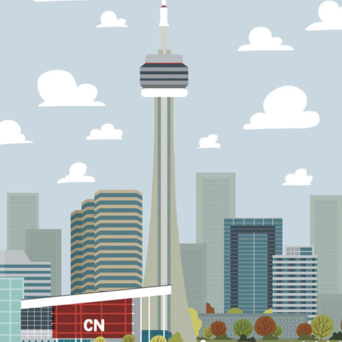 Toronto - CN Tower - Art Print - Snow Alligator by Jason Blower
